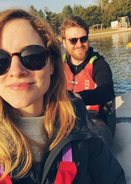 Matt Stokoe as seen in a selfie taken with his girlfriend Sophie Rundle while kayaking in February 2019