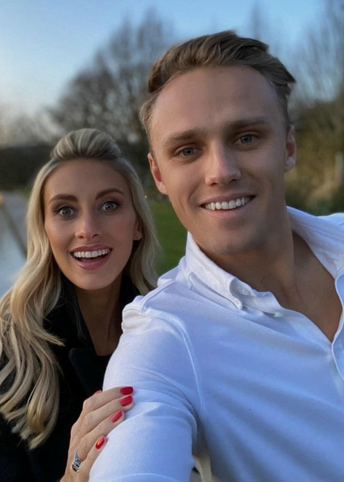 Max Chilton and Chloe Roberts in a selfie in December 2019