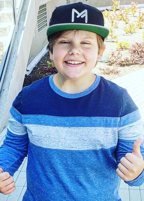 Maxwell Simkins as seen in a picture taken in Santa Monica, California in May 2020