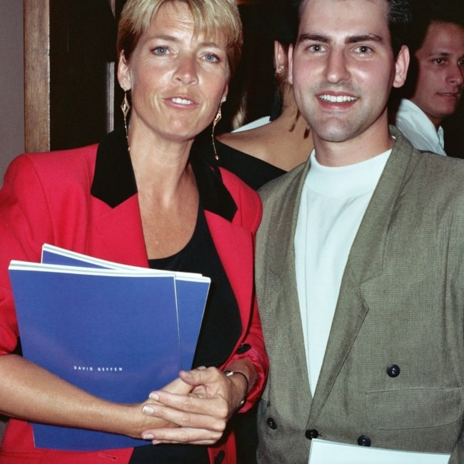 Meredith Baxter as seen in a picture taken with Terry Genz at the APLA benefit on September 7, 1990