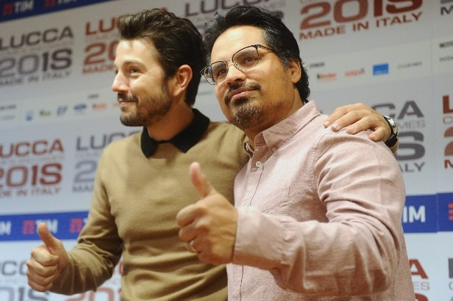 Michael Peña (Right) and Diego Luna as seen during an event in November 2018