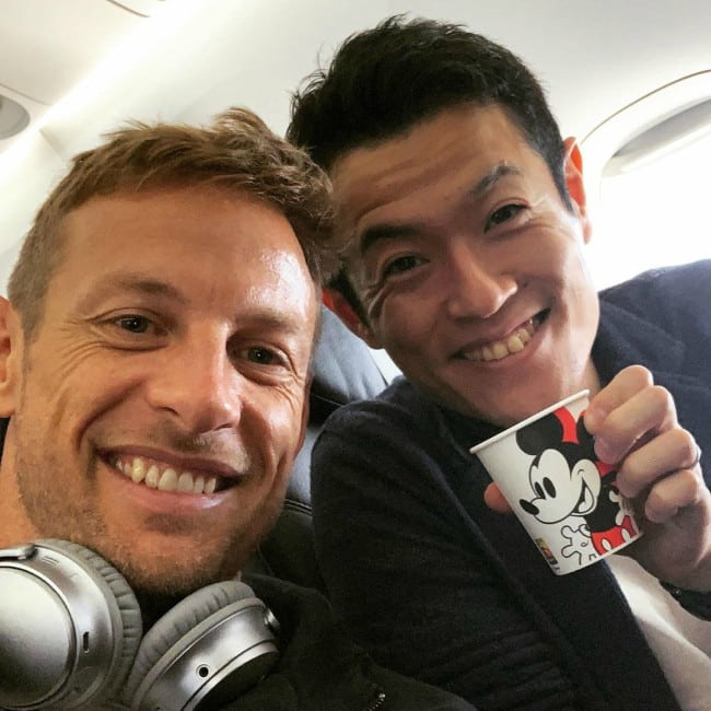 Naoki Yamamoto (Right) and Jenson Button in a selfie in September 2019