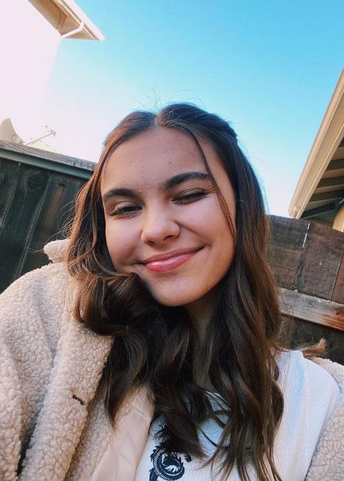 Olivia Somersille in an Instagram selfie from December 2019