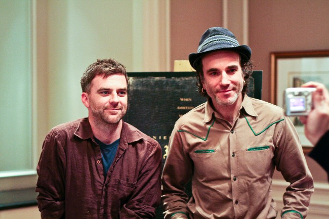 Paul Thomas Anderson with Daniel Day Lewis in 2007