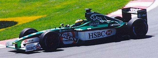 Pedro de la Rosa as seen while driving for Jaguar Racing at the 2001 Canadian Grand Prix