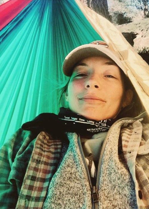 Perdita Weeks in a selfie from 2020