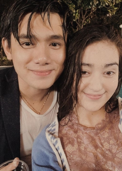 Ranty Maria as seen in a picture taken with actor Rayn Wijaya in July 2019