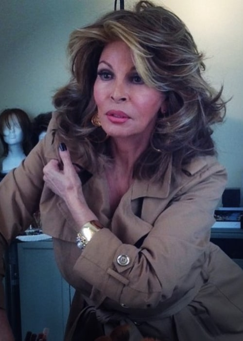 Raquel Welch during a photoshoot in October 2017