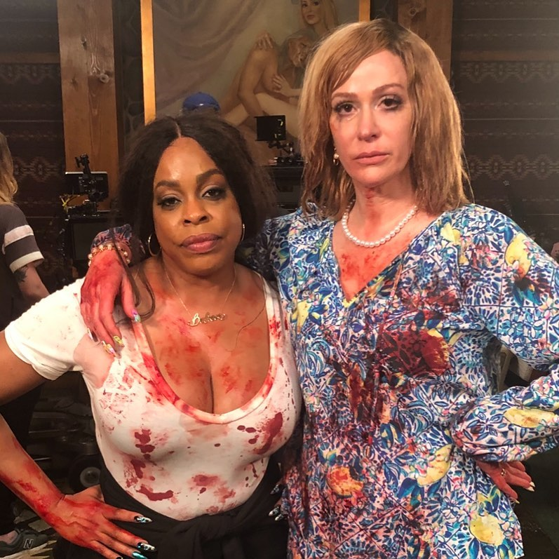 Rebecca Creskoff as seen in a picture taken with actress and comedian Niecy Nash in July 2019