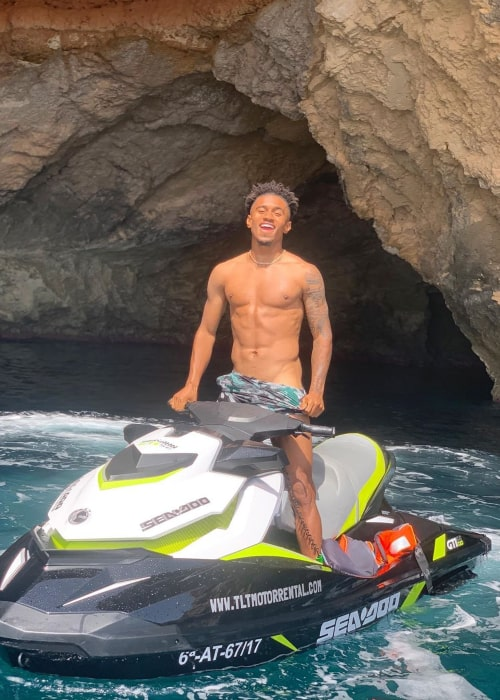 Reiss Nelson as seen in an Instagram Post in June 2019