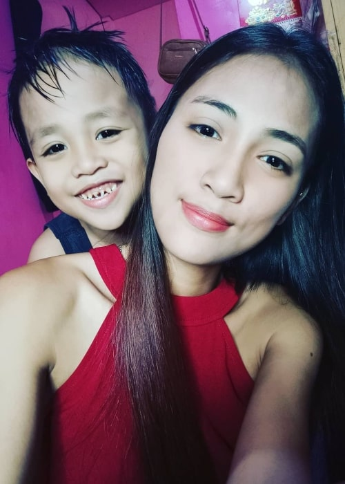 Rosemarie Vega as seen in a selfie taken with her son Prince in May 2020