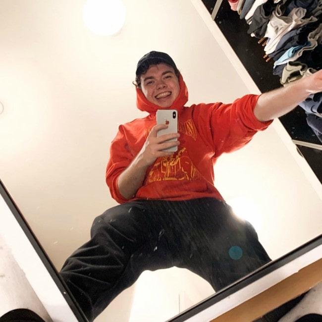 SMii7Y in a selfie as seen in January 2020