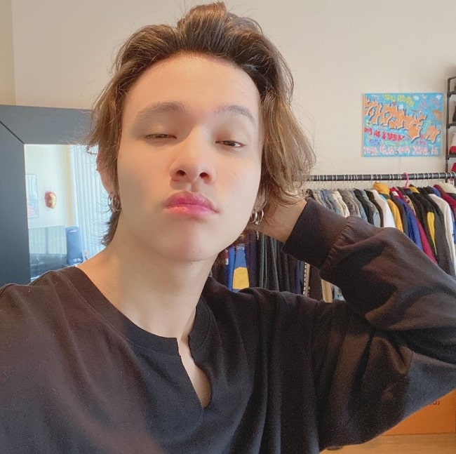 Samuel Kim as seen while clicking a selfie in May 2020