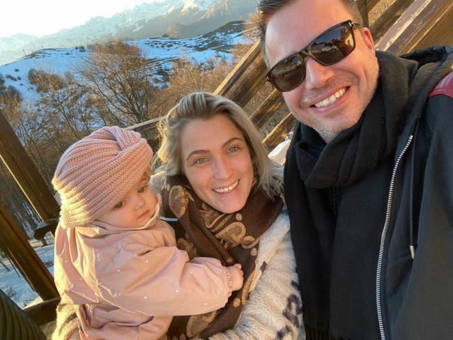 Sander van Doorn with his family as seen in January 2020