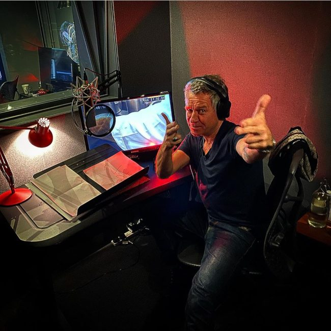 Sean Pertwee during the dubbing of Master Chef UK in 2019
