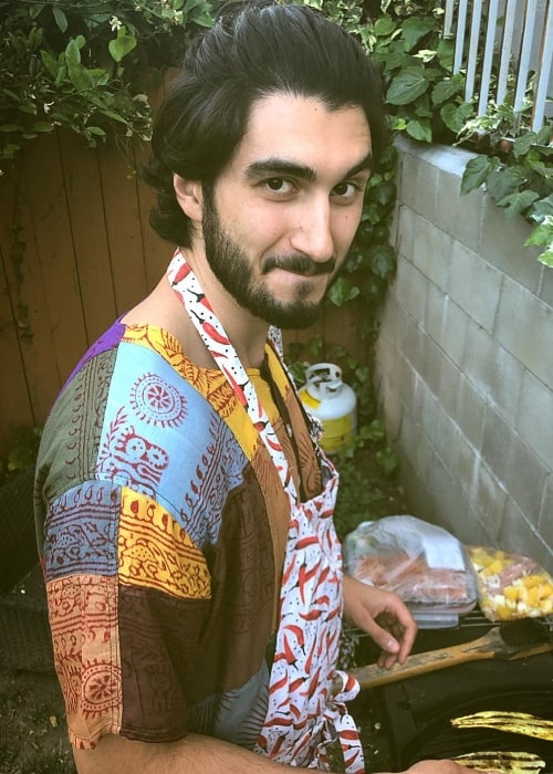 Shayan Sobhian as seen while cooking in Los Angeles, California in April 2019