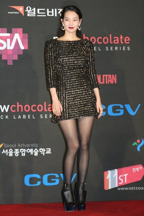 Shin Min-a as seen while posing for the camera during an event in November 2009