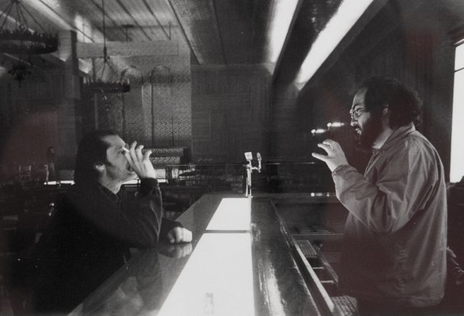 Stanley Kubrick during the shoot of The Shining in 1980