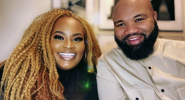 Tasha Cobbs with her husband as seen in May 2020