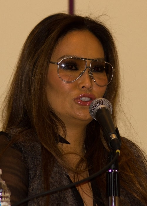 Tia Carrere at a question and answer session at Toronto Comicon in 2012