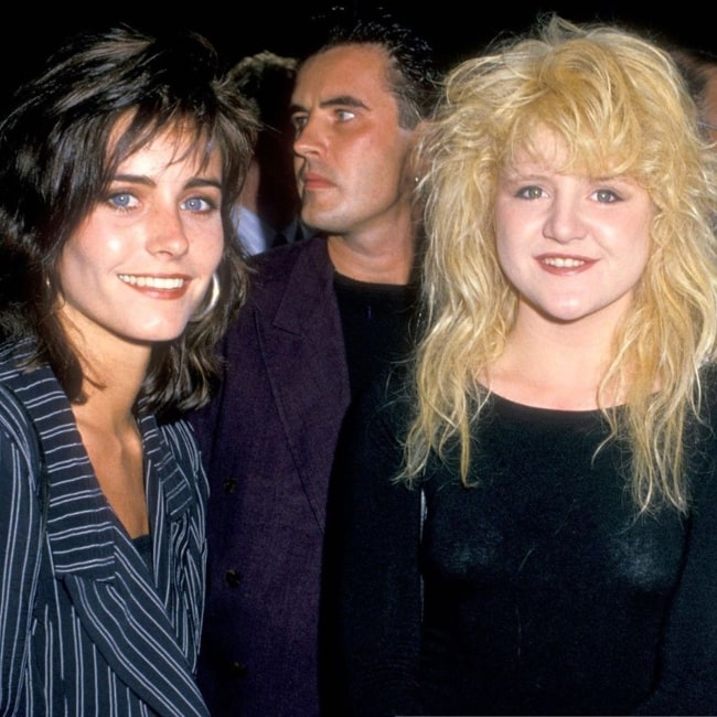 Tina Yothers as seen in a picture taken with her fellow co-star Courteney Cox at the premier of the film Big Top Pee-wee in 1988 at the TCL Chinese Theatres