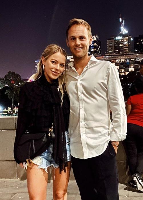 Tom Blomqvist and Rebecca Imogen Kate, as seen in December 2019