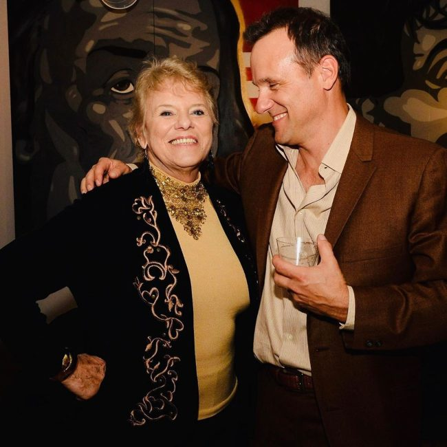 Tom Verica with his mother in 2020