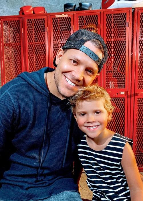 Travis Talbott and his son Tydus Talbott, as seen in an Instagram Post in April 2020