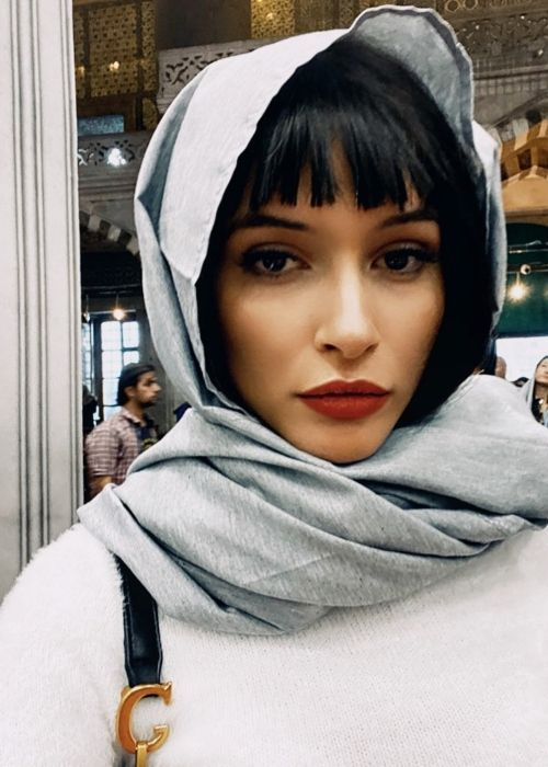 Tunisian model Azza Slimene