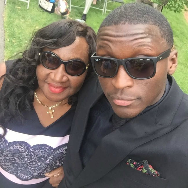 Victor Oladipo in a selfie with his mother as seen in July 2017
