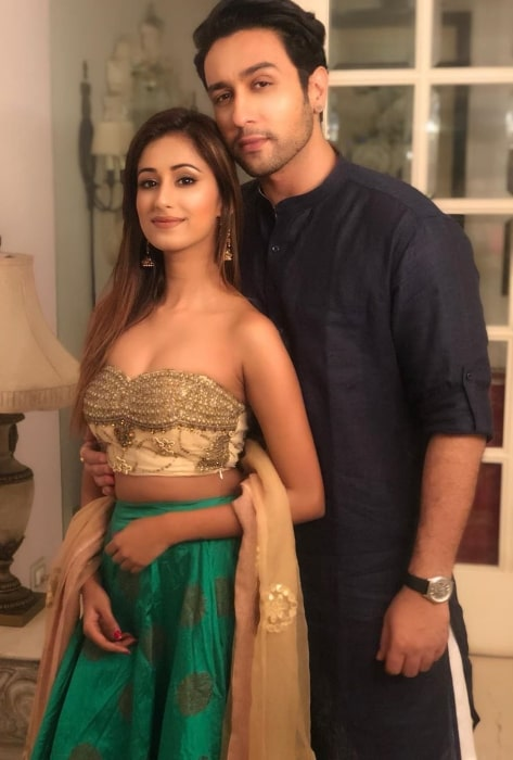 Adhyayan Suman as seen while posing for a picture along with Maera Mishra in October 2019