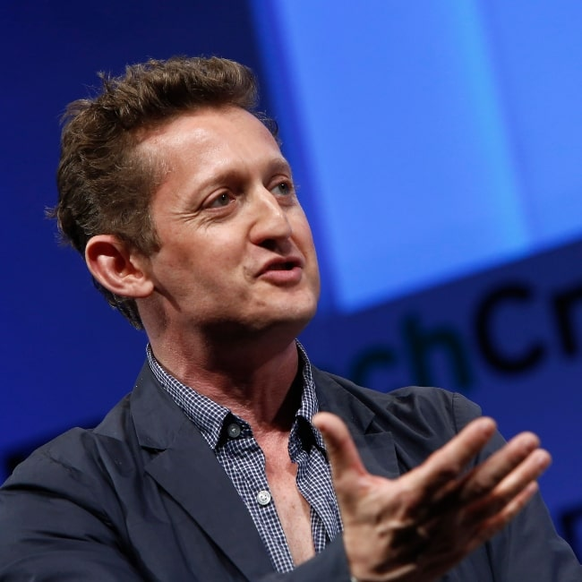 Alex Winter as seen in a picture taken while he was speaking onstage at the TechCrunch Disrupt NY 2013 at The Manhattan Center on in New York City on April 30