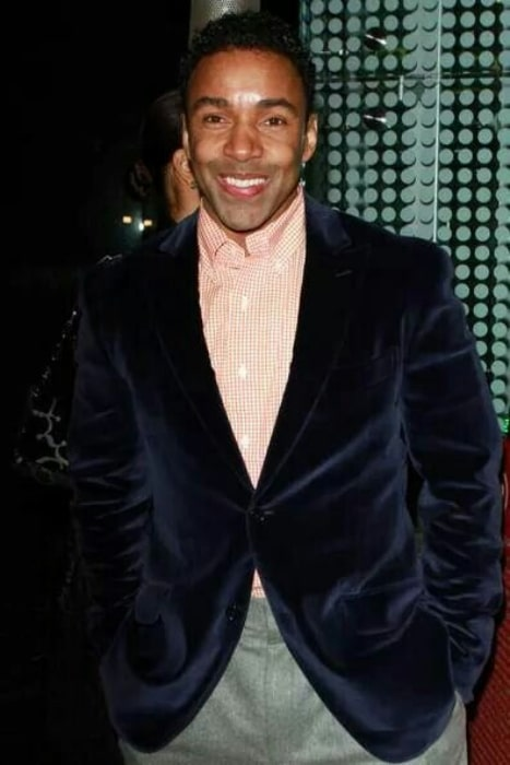Allen Payne as seen while smiling for the camera