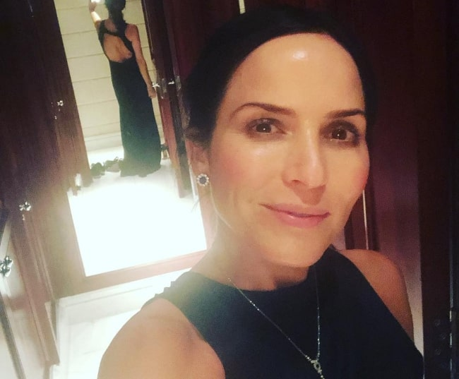 Andrea Corr as seen while clicking a selfie in December 2018