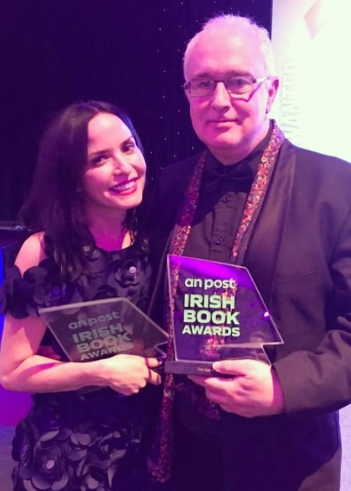 Andrea Corr as seen while posing for a picture alongside Irish novelist Joseph O'Connor in November 2019