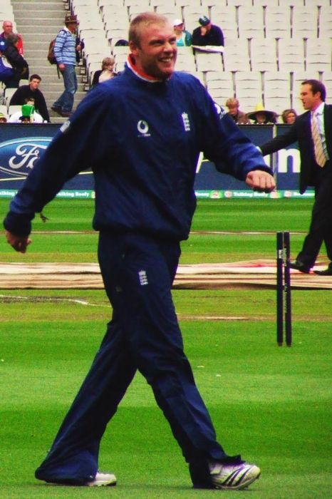 Andrew Flintoff as seen during a practice session