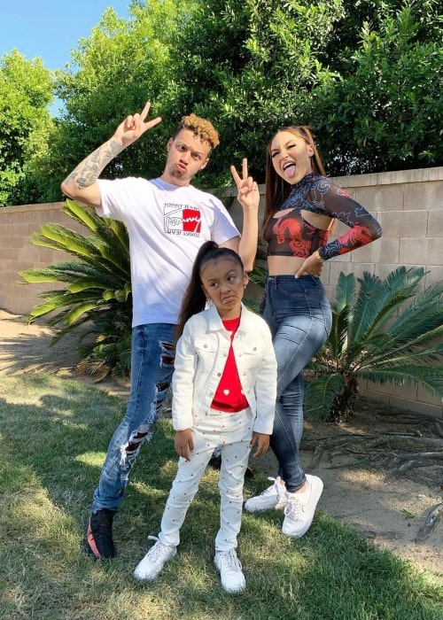 Anisia Lagness as seen in a picture taken with her boyfriend Devonte Thomas and daughter Juliet in May 2020