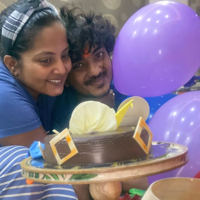Anjana Singh as seen in a picture taken on the day of her brother Anuraag Thakur's birthday in July 2020