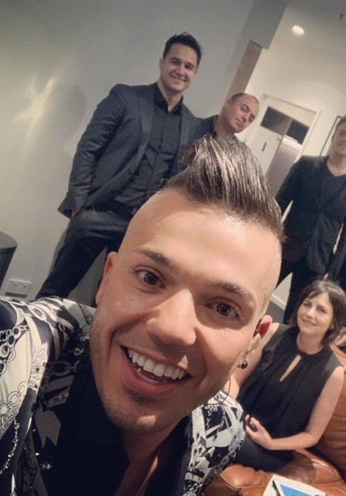 Anthony Callea in September 2019 moments before a live performance