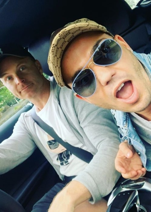 Anthony Callea with his partner in November 2019