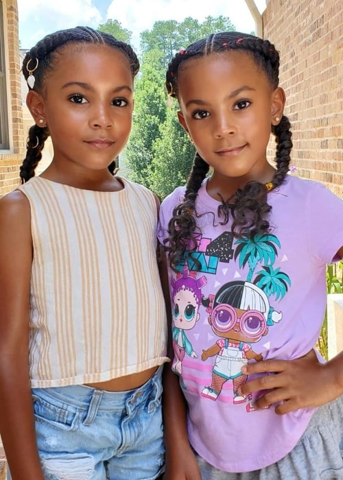 Ava McClure as seen in a picture with her sister Alexis McClure that was taken in July 2020