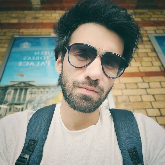 Avinash Tiwary as seen while taking a selfie in June 2020