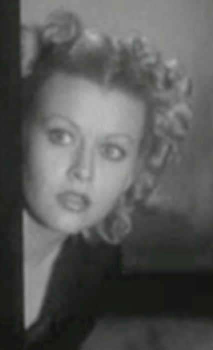 Barbara Pepper as seen in a still from the film 'The Rogue's Tavern' in 1936
