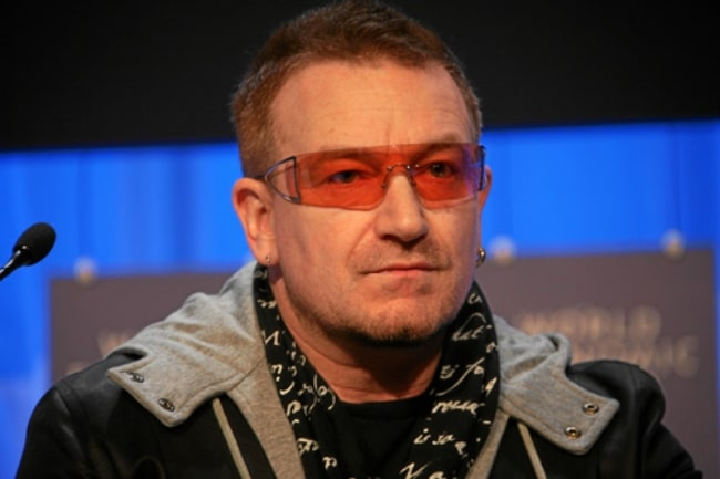 Bono as seen at the Annual Meeting 2008 of the World Economic Forum in Davos, Switzerland on January 24, 2008