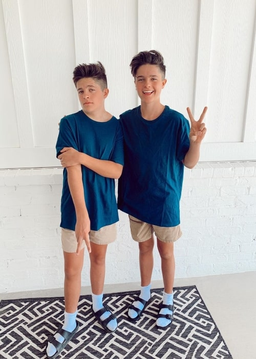 Boston Mikesell as seen in a picture with his brother Brock Mikesell in July 2020