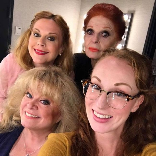 Carole as seen with Sally Struthers, Elaine Hayhurst, and Yo Younger in 2016