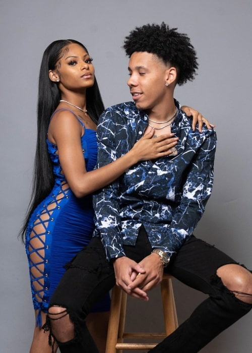 CeyNoLimit as seen in a picture taken with his girlfriend Jailyn Savage in Atlanta, Georgia in June 2020