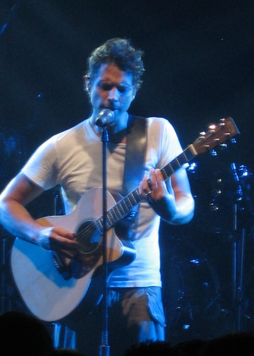 Chris Cornell pictured while performing with Audioslave at the 2005 Montreux Jazz Festival