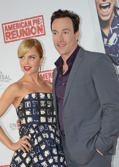 Chris Klein and Mena Suvari as seen in March 2012