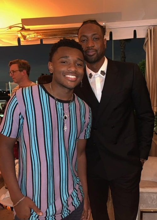 Curtis Harris (Left) as seen while smiling in a picture alongside Dwyane Wade in May 2019